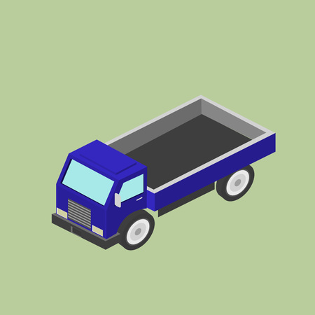 Freight car for transportation. Delivery, transportation. Isometric  illustration