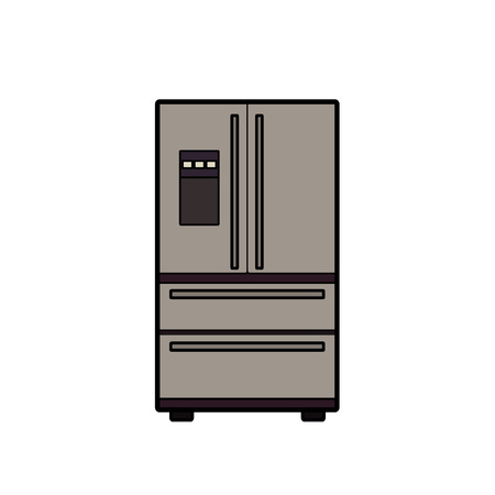 Symbol of fridge. color line art. Vector illustration