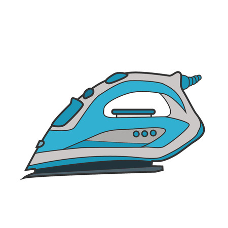 Symbol iron. Icon for web site. Line art vector illustration