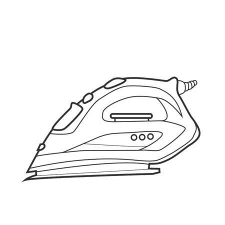 Symbol iron. Icon for site. Line art illustration 矢量图像