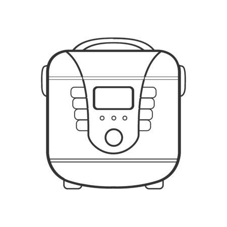 symbol of multivarka. line art. illustration 矢量图像