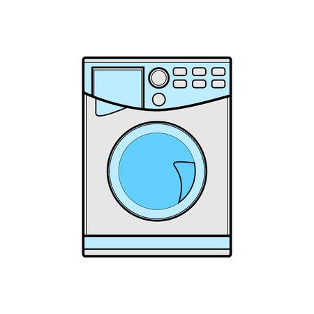 symbol of washing machine. color line art. illustration 矢量图像