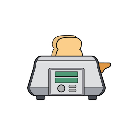 Symbol toaster. Icon for web site. Line art illustration