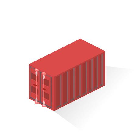 Container merchant ships. Liner Equipment. Isometric vector illustration 矢量图像