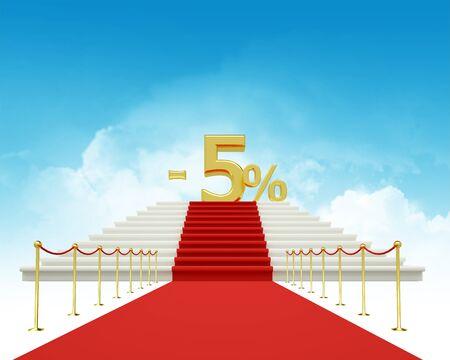 five percent discount photo
