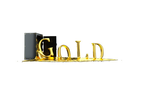 liquid gold: Safe and liquid gold. Gold rises gold symbol. Path included. Perfect for advertising models. Save in days of sales
