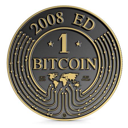 exclusive photo: Golden Platinum Bitcoin coin