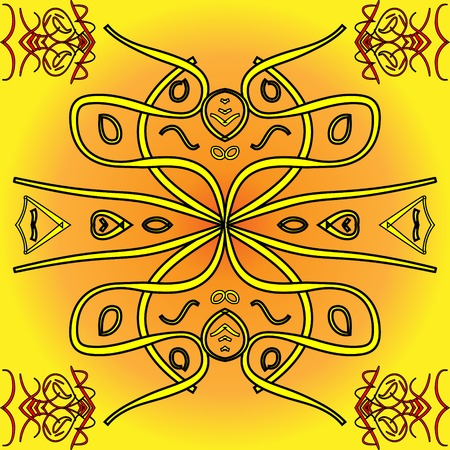 indigenous: Sunny yellow abstract background of indigenous