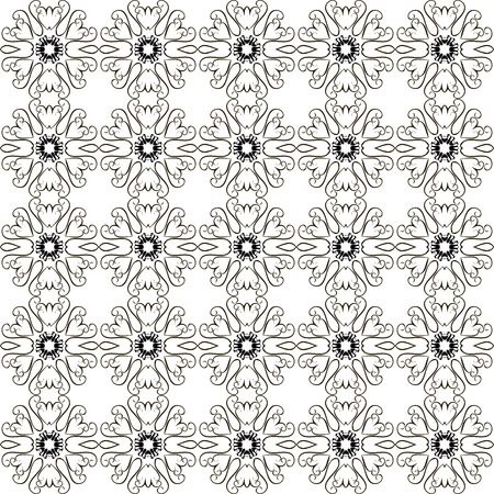ruche: stylized graphic abstract black and white seamless pattern.