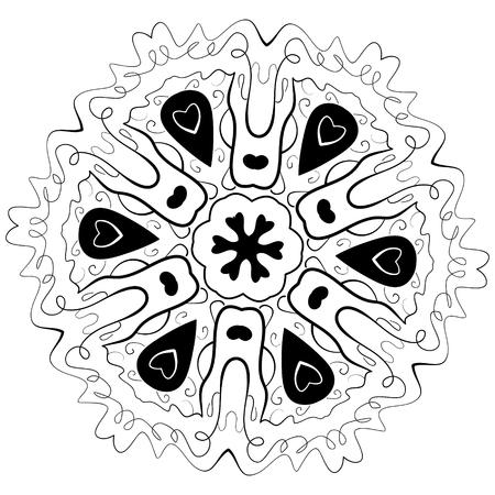 Mandala Para Colorear Libro. Mandala Contorno. Mandala De La Línea ...