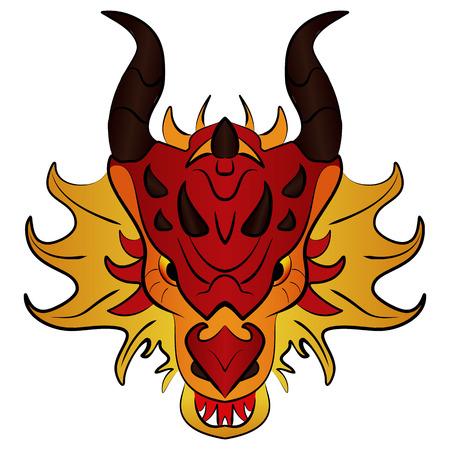 Chinese Dragon Traditional Culture, vector illustration cartoon. Illustration
