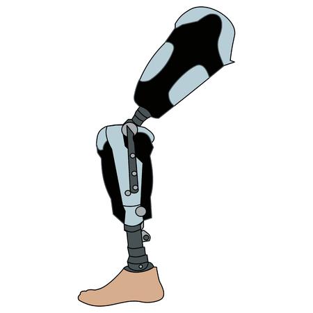 Modern Exoskeleton Prosthetic leg mechanism Illustration