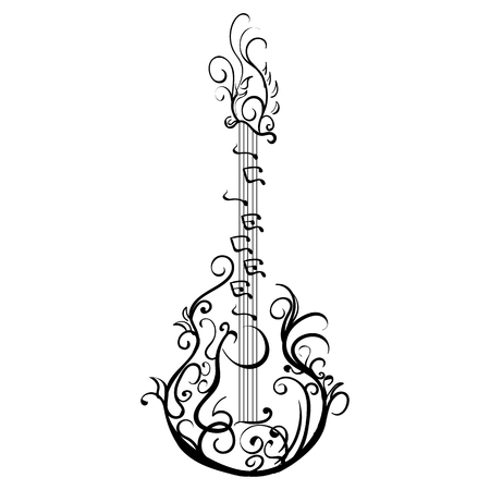 Stylized classical guitar