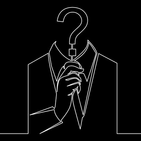 Kontinuierliche einzeilige Cyber-Betrugssymbol-Linienkonzept-Zeichnungslinie im modernen Stil. Vektor-Illustration