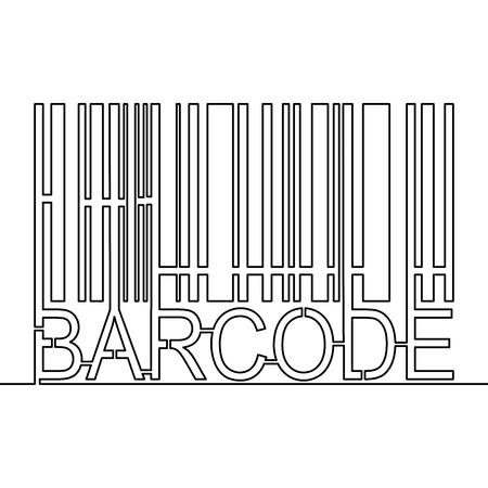 Continuous line drawing Barcode verifying vector icon vector illustration Concept