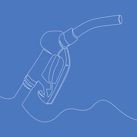 Continuous line drawing Gasoline station pump line icon vector illustration concept