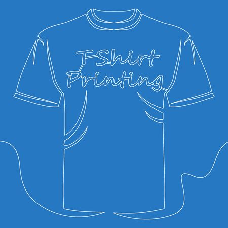 Continuous one single line drawing T-shirt printing icon vector illustration concept Imagens - 130344329