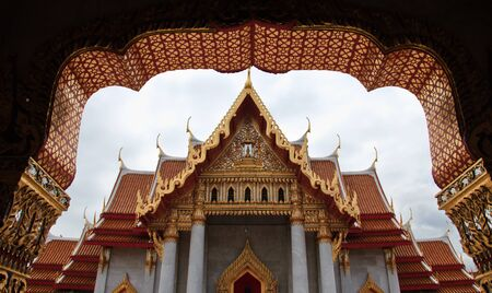 Wat Benjama in Bangkok, Thailand photo