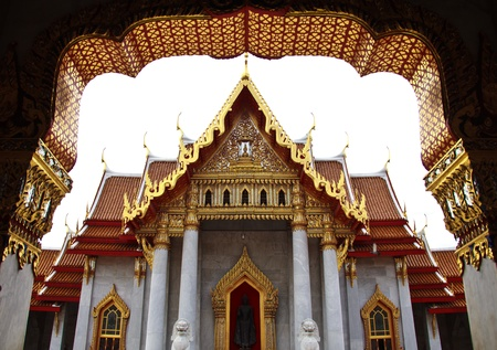 Wat Benjama in Bangkok, Thailand Standard-Bild - 10983231