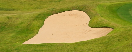 Heart  of sand pit in golf land photo