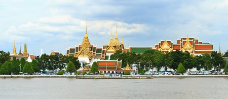 Chaophraya River and Watphrakaew in Thailand