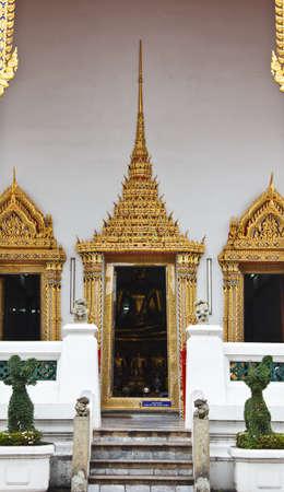 transcendental: Door of Wat Pho in Bangkok,Thailand