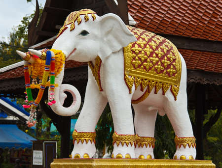 Statue of Elephant in Ratchaburi, Thailand photo