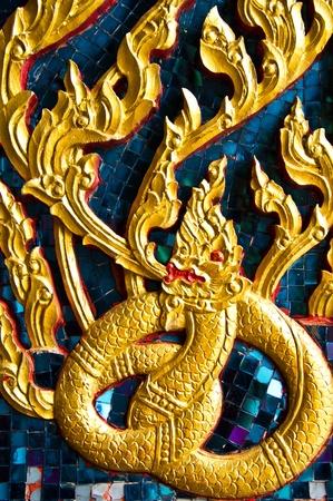Golden Naga in Wat Pho,Bangkok,Thailand