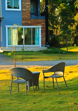 Two relaxing chairs in Garden photo