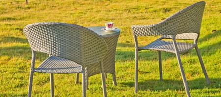 Two relaxing chairs in Garden Stock Photo - 11797655