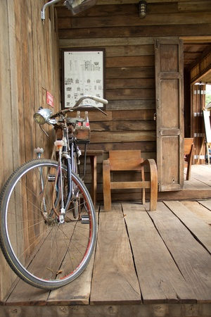 antique asian: antique bicycle in Kao yai, Thailand