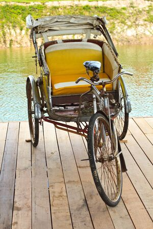 invents: Antique tricycle in thailand