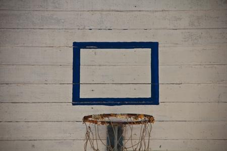 Basketball hoop in the school.