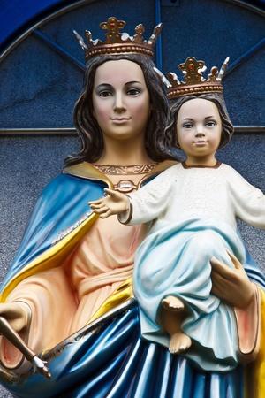 vierge marie: Bienheureuse Vierge Marie avec l'Enfant Jésus Banque d'images