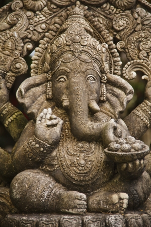 God ganesh statue of hindo in Bangkok Thailand temple photo