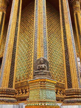 Wat Phra Kaew (Temple of the Emerald Buddha), Bangkok Thailand.  photo