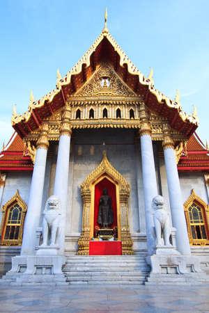 (Wat Benchamabophit), Bangkok, Thailand photo