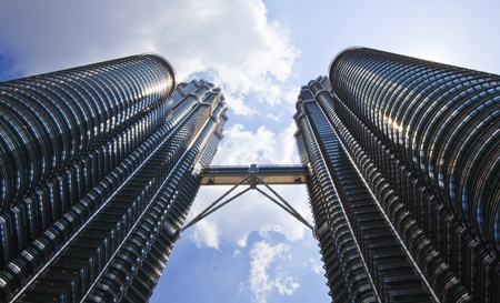 Twin Towers and blue sky in malaysia Stock Photo - 13162080