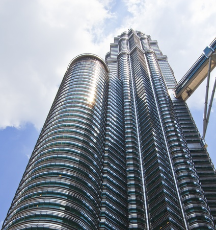 Twin Towers and blue sky in malaysia Stock Photo - 13162079