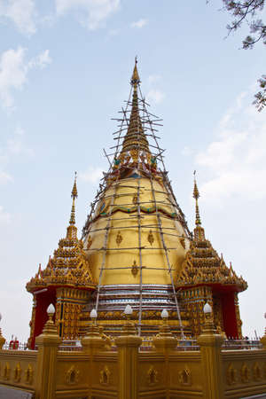 relics: Relics of the Lord Buddha in kanchanaburi Province Thailand