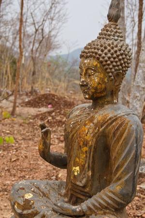 idolatry: Ancient Buddha in Thailand, beautiful