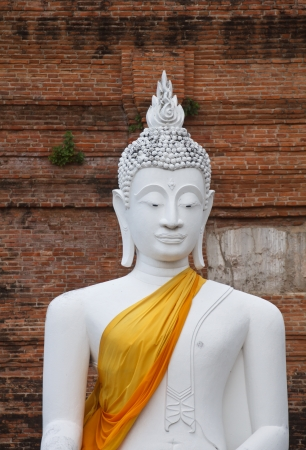 The Buddha status of wat yaichaimongkon at ayuttaya province, Thailand photo