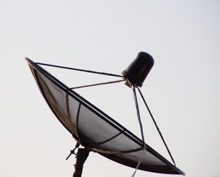 A large black satellite dish  Stock Photo - 14059211