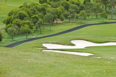 Beautiful sand trap on the golf course Stock Photo - 14749341