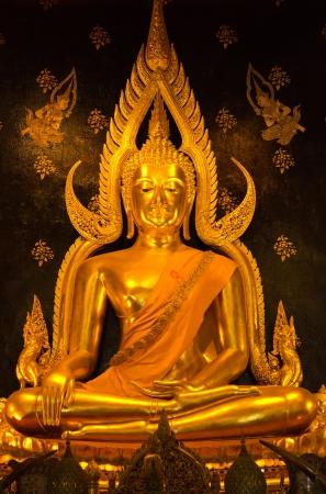 Wat Phra Sri Rattana Mahathat Temple, Phitsanulok - Thailand - Golden Buddha statue photo