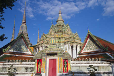 Magnificent architecture at Wat Pho, Bangkok Thailand photo