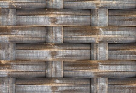 Thai handcraft of bamboo weave pattern for background use photo