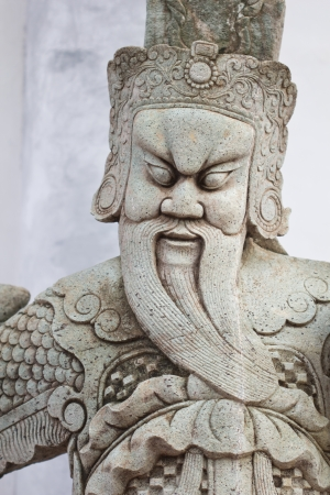 idolatry: Giant statue of a Chinese temple in Thailand