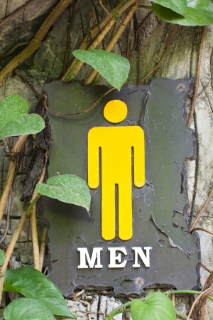 bathroom sign: This male and female bathroom sign made out of steel Stock Photo