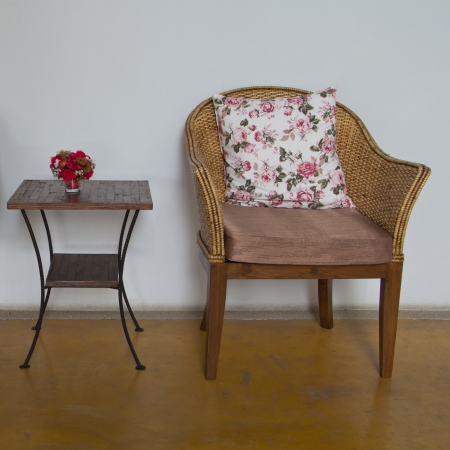 Wicker chairs are placed in the living room. Stock Photo - 16929575